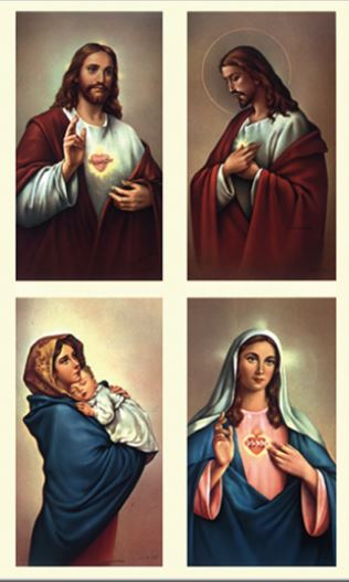 Jesus & Mary - Set of 4