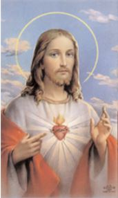 Sacred Heart of Jesus, Blue