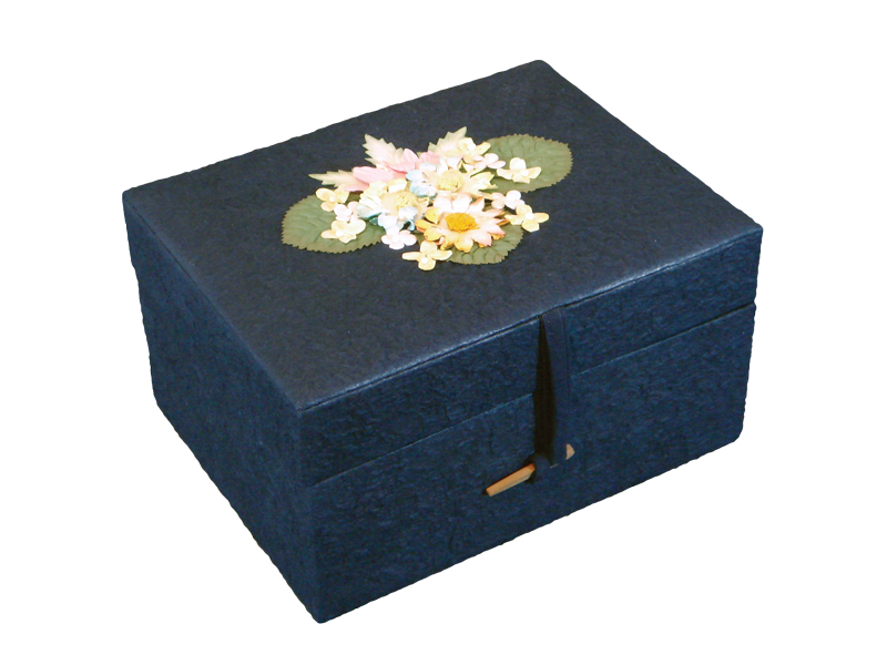 Chest, Navy Blue $ 155.00 6.75 L x 8.75 W x 5 H (220 Cubic Inches) (Engraving additional starting at $ 49.00 for 3 lines of text)
