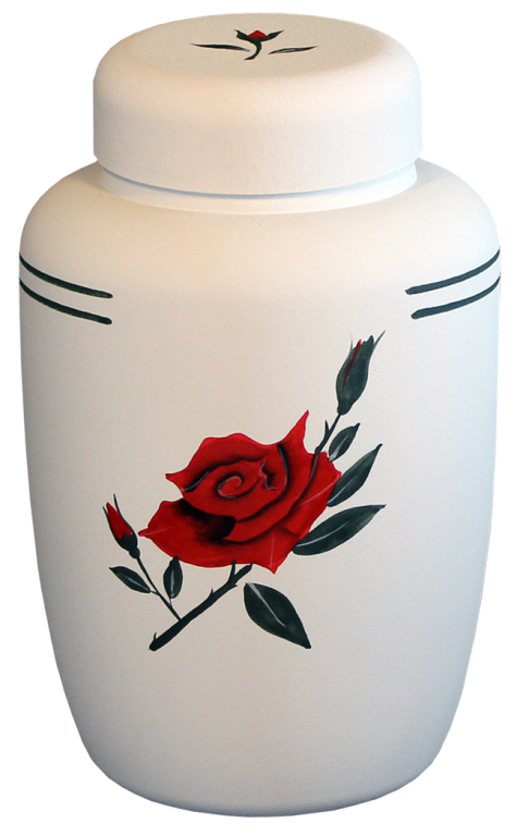 Cornstarch, Red Rose $ 195.00 6.75 Dia. x 10.25 H (238 Cubic Inches) (Engraving additional starting at $ 49.00 for 3 lines of text)