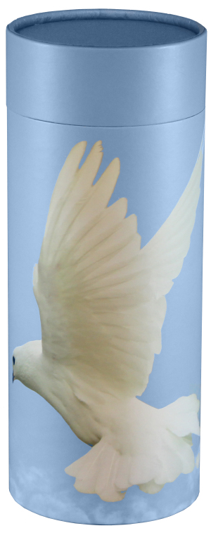 Ascending Dove $ 95.00 (Engraving additional starting at $ 49.00 for 3 lines of text) 5.1 Diameter x 12.6 H (200 Cubic Inches)