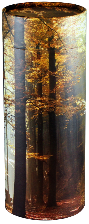 Autumn Woods $ 95.00 (Engraving additional starting at $ 49.00 for 3 lines of text) 5.1 Diameter x 12.6 H (200 Cubic Inches)