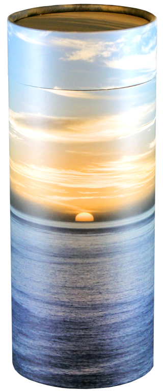 Ocean Sunset  95.00 Engraving additional starting at  49.00 for 3 lines of text 5.1 Diameter x 12.6 H 200 Cubic Inches