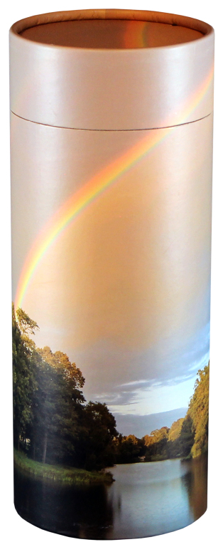Rainbow Pond  95.00 Engraving additional starting at  49.00 for 3 lines of text 5.1 Diameter x 12.6 H 200 Cubic Inches