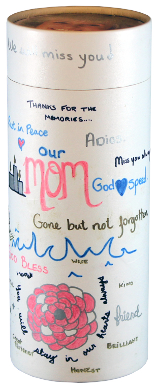 Personalized White includes marker set  95.00 Engraving additional starting at  49.00 for 3 lines of text and photo personalization on top additional  49.00 5.1 Diameter x 12.6 H 200 Cubic Inches