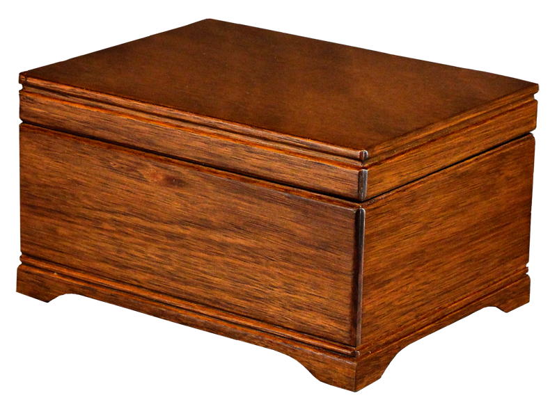 Mahogany Chest $ 300.00 8 L x 10.75 W x 6.25 H Inside: 6.5L x 9.25 W x 5 H (Engraving additional starting at $ 49.00 for 3 lines of text)