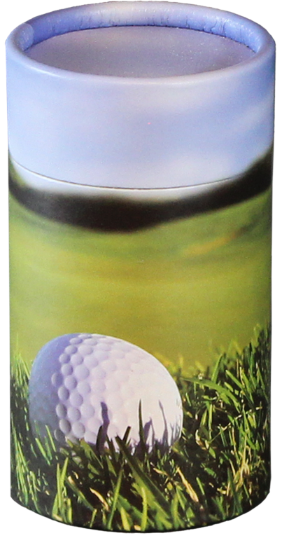 The 19th Hole MINI Scattering Urn $ 45.00 2.95 Dia. x 5.25 H (20 Cubic Inches) (Engraving additional starting at $ 49.00 for 3 lines of text)
