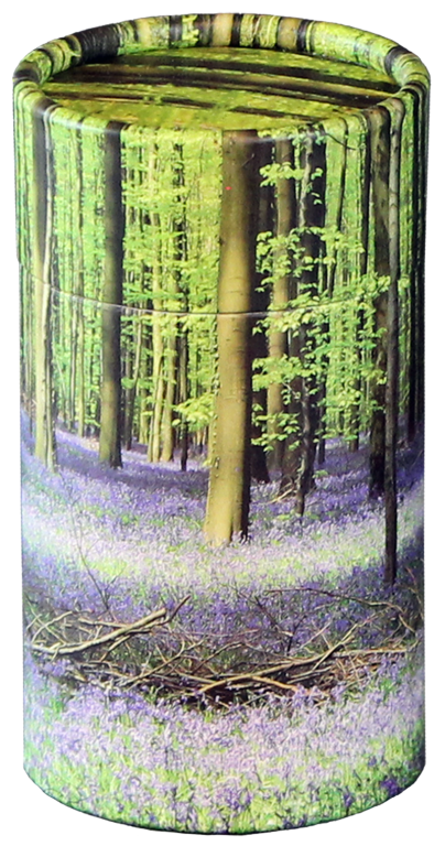 Bluebell Forest MINI Scattering Urn $ 45.00 2.95 Dia. x 5.25 H (20 Cubic Inches) (Engraving additional starting at $ 49.00 for 3 lines of text)