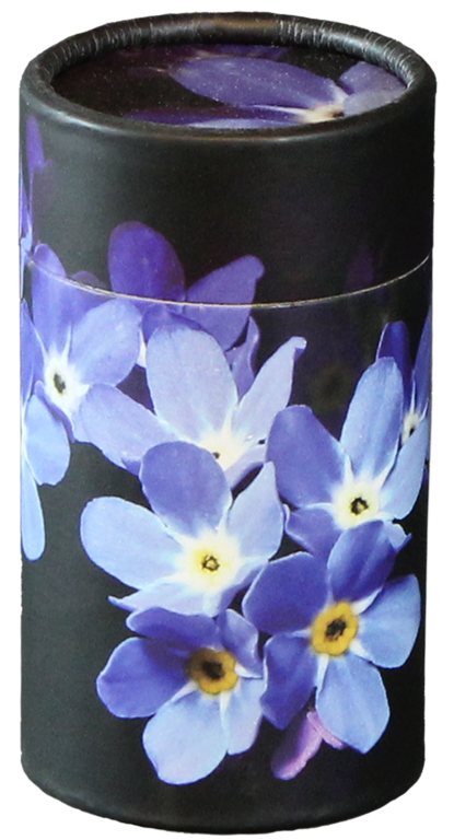 Forget Me Not MINI  45.00 2.95 Dia. x 5.25 H 20 Cubic Inches Engraving additional starting at  49.00 for 3 lines of text