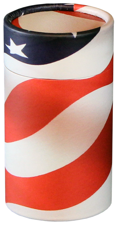 Patriot MINI $ 45.00 2.95 Dia. x 5.25 H (20 Cubic Inches) (Engraving additional starting at $ 49.00 for 3 lines of text)