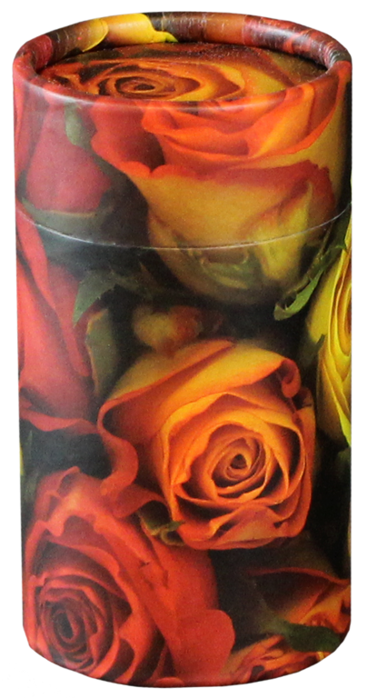Rose MINI Scattering Urn $ 45.00 2.95 Dia. x 5.25 H (20 Cubic Inches) (Engraving additional starting at $ 49.00 for 3 lines of text)
