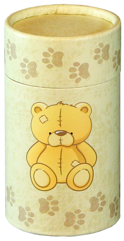 Teddy MINI Scattering Urn $ 45.00 2.95 Dia. x 5.25 H (20 Cubic Inches) (Engraving additional starting at $ 49.00 for 3 lines of text)