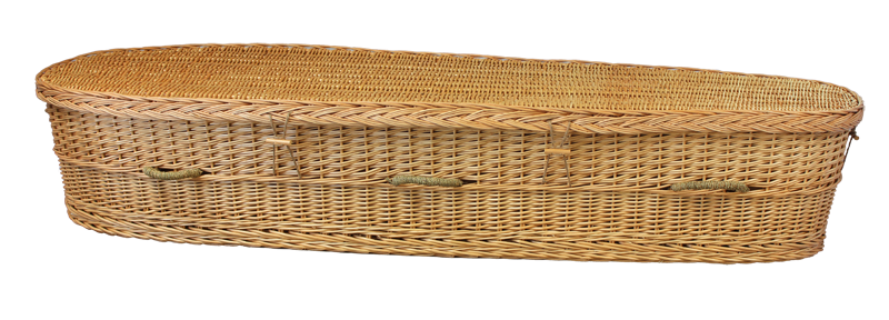 Rounded Willow Casket  1,495.00 Interior 70 L x 20 W x 12 H Exterior 77 L x 24 W x 12 H