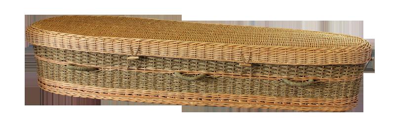 Seagrass     Casket $ 1,495.00 Interior: 70 L x 20 W x 12 H Exterior: 77 L x 24 W x 12 H