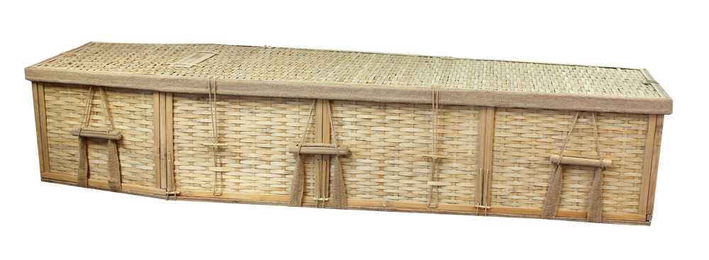Six-Point Bamboo Coffin  995.00 Interior 70 L x 20 W x 12 H Exterior 77 L x 24 W x 12 H