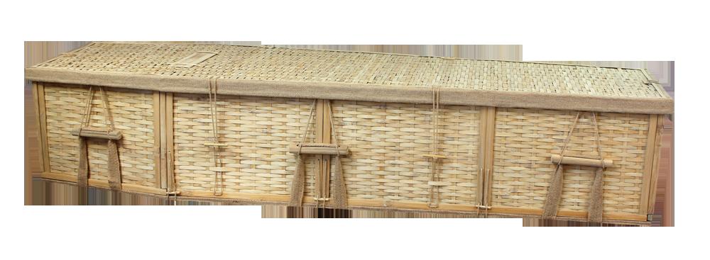 Six-Point Bamboo Coffin $ 995.00 Interior: 70 L x 20 W x 12 H Exterior: 77 L x 24 W x 12 H