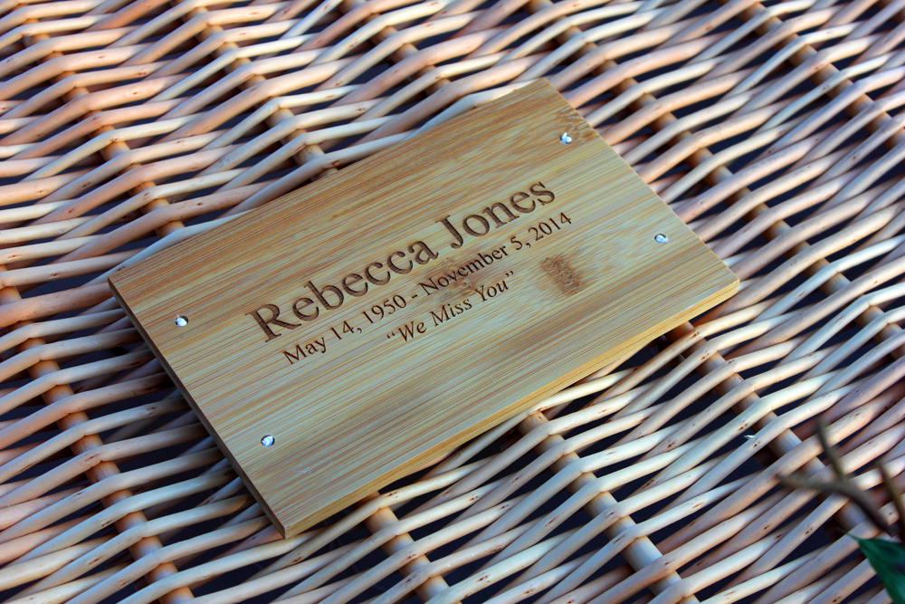 Bamboo Plaque  50.00 5 L x 8 W x .375 H