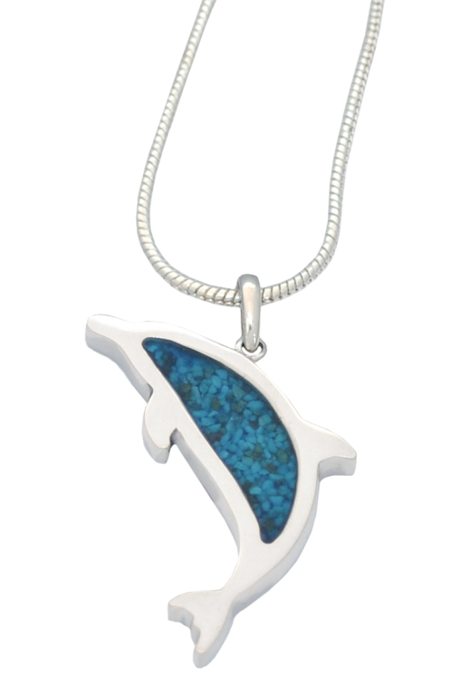 Custom Crafted Dolphin Pendant Sterling Silver  295.00 1.4 L x .9 W