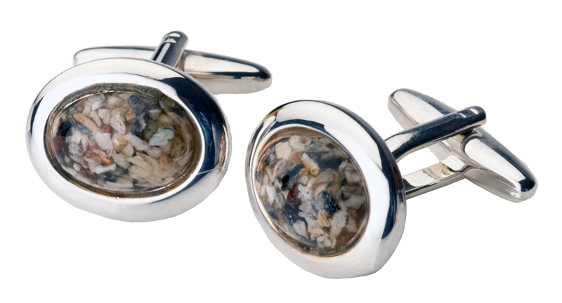 Custom Crafted Oval Cuff Links  395.00 Sterling Silver .7 L x .6 W