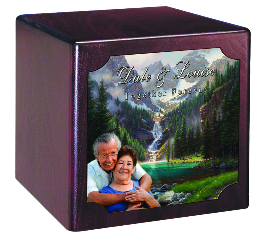 Companion Urn Cherry Finish  239.00 10 x 7.1 x 9.8 Over 400 Cubic Inches