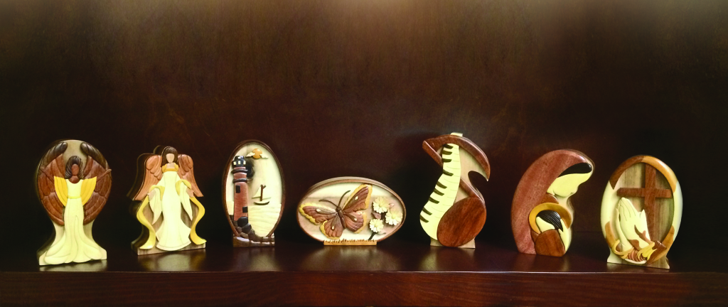 Hand Carved Wood Keepsakes  99.00 6.5 H x 2.13 D x 3.63 W