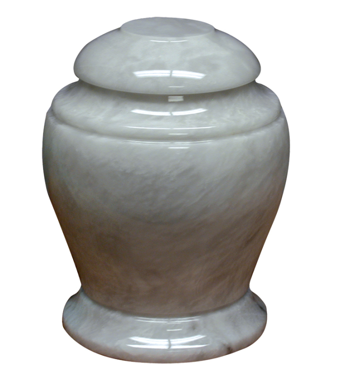 "Imperial White $ 248.00 10.1"" H x 7.9"" Dia (200 Cubic Inches) / Keepsake size $ 42.00 2"" Dia x 3"" H"