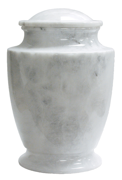 "Majestic White $ 248.00 11.3"" H x 7.5"" Dia (200 Cubic Inches) / Keepsake size $ 42.00 2"" Dia x 3"" H"