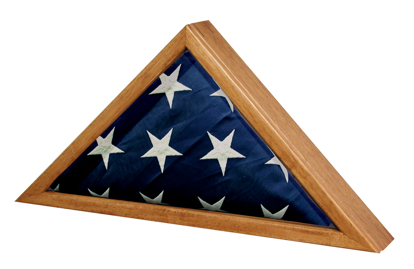 Standard Flag Case Oak finish  49,00 25 W x 12.5 H x 3.25 D