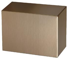 Bronze Urn Insert #30-D-90 $ 178.00 4.5 H., 8.5 W., 6.625 D., (240 Cubic Inches)