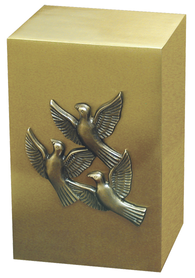Brushed Brass Urn #30-A-674 $ 198.00 6 W x 5 D x 9 H. (238 Cubic Inches)