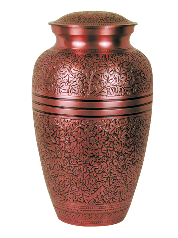 Copper Oak $ 188.00 10.5 H x 6 Dia, (200 Cubic Inches) Keepsake size $ 30.00 3 H x 1.75 Dia.