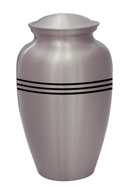 Classic Pewter with Stripes $ 148.00 10.6 H x 6 Dia, (200 Cubic Inches) Keepsake size $ 30.00 3 H x 1.75 Dia.