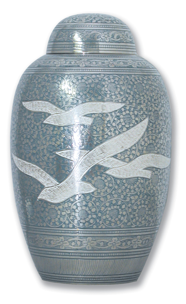 Blue Going Home Birds $ 148.00 10.5 H x 6.3 Dia, (200 Cubic Inches) Keepsake size $ 30.00 3 H x 1.75 Dia.