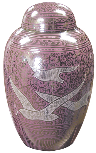 Pink Going Home Birds  148.00 10.5 H x 6.3 Dia, 200 Cubic Inches Keepsake size  30.00 3 H x 1.75 Dia.