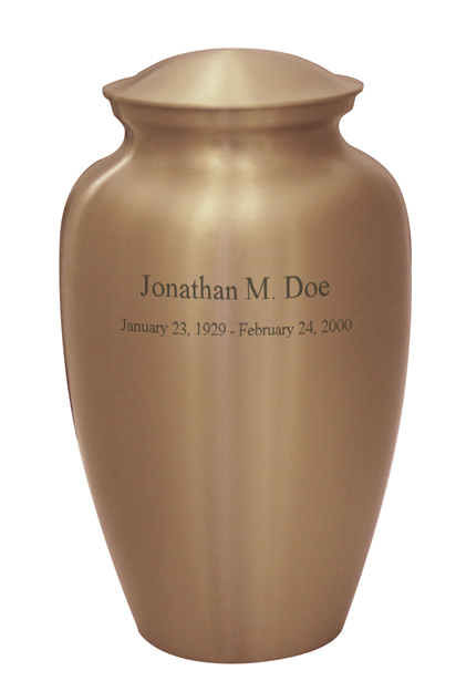 Satin Gold $ 148.00 10.6 H x 6 Dia, (200 Cubic Inches) Keepsake size $ 30.00 3 H x 1.75 Dia.