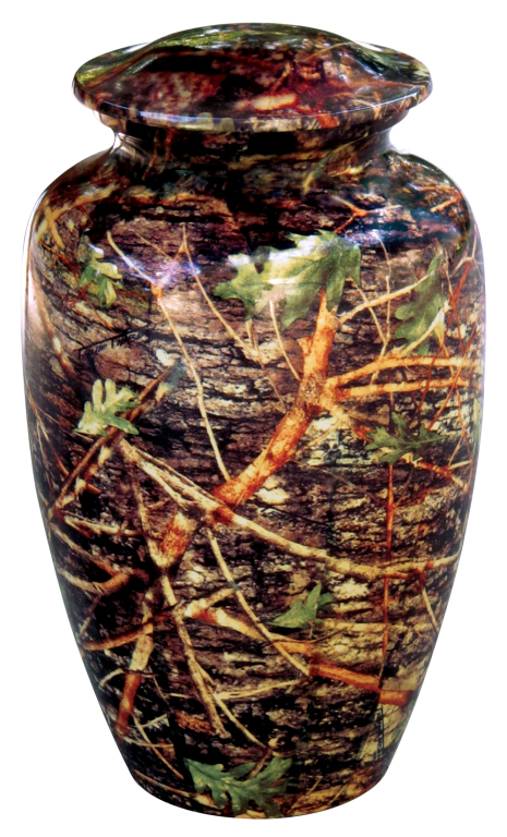 Camouflage $ 189.00 10.25 H x 6 Dia, (195 Cubic Inches) Keepsake size $ 30.00 3 H x 1.75 Dia.