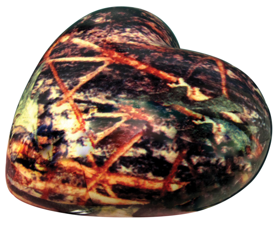 Camouflage Heart Keepsake Approximately 2.75 x 2.75  30.00