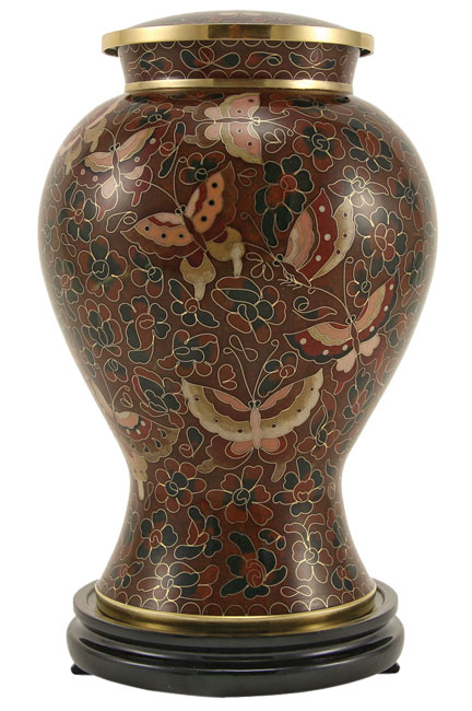 Brown Butterfly Cloisonne' Urn Full Size  305.00 10.7 x 7.2 200 Cubic Inches Keepsake Size  83.00 3 x 1.75