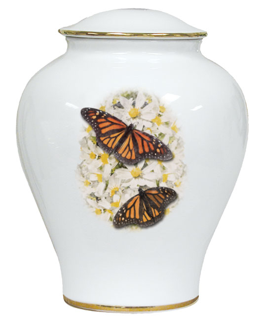 Butterfly Porcelain Urn $ 148.00 10 H x 7.75 W (225 Cubic Inches)