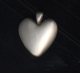 White Bronze Heart  119.00 1.125
