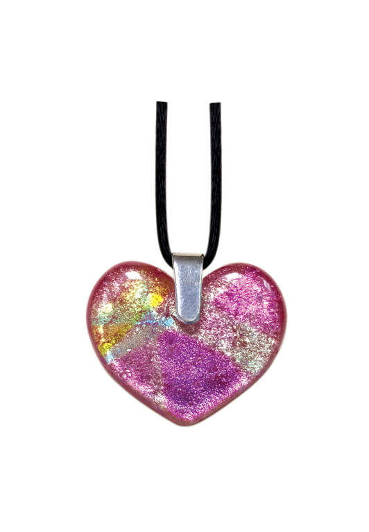 Glass Art Heart Pendant  150.00 1.188 W x 1.063 H