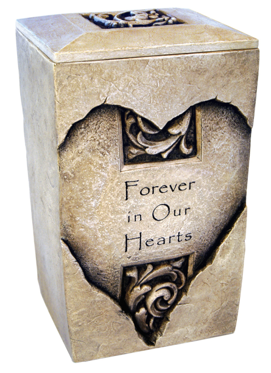 Forever Heart Full Size $ 428.00 7 W x 6 D x 11.25 H (200 Cubic Inches) / Keepsake Size $ 111.00 2.25 W x 2 D x 4 H (1 Cubic Inch)