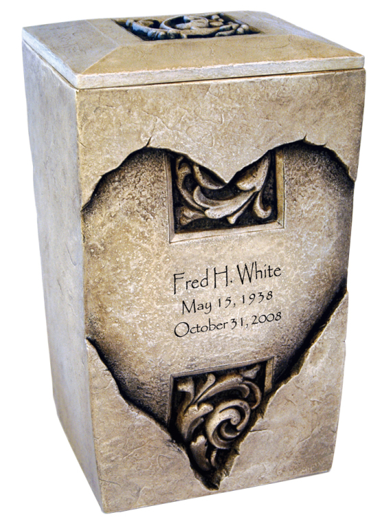 Forever Heart Full Size $ 483.00 7 W x 6 D x 11.25 H (200 Cubic Inches) / Keepsake Size $ 111.00 2.25 W x 2 D x 4 H (1 Cubic Inch)