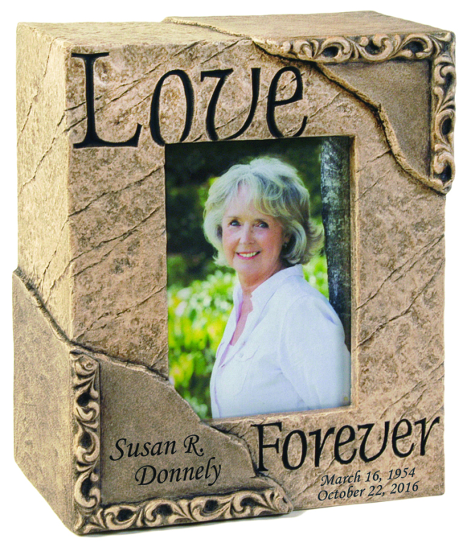 Love Photo Urn $ 428.00 9.5 W x 6 D x 11.25 H (205 Cubic Inches)