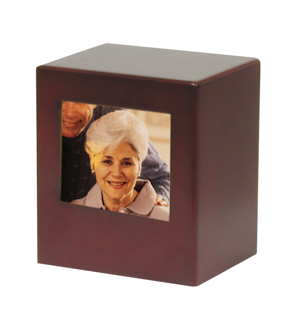 Photo Urn (Small) $ 60.00 6h x 5.3w x 4.3d, (75 Cubic Inches)