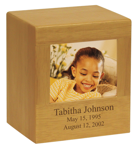 Photo Urn Small  60.00 6h x 5.3w x 4.3d, 75 Cubic Inches