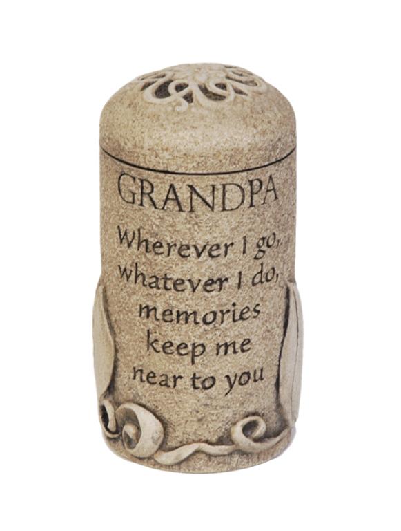 Grandpa Keepsake $ 111.00 3.6 H x 2.6 W ( 1 Cubic Inch)