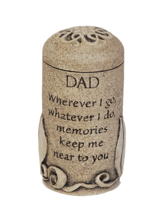 Dad Keepsake $ 111.00 3.6 H x 2.6 W ( 1 Cubic Inch)