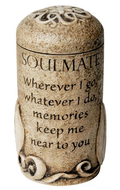 Soulmate Keepsake $ 111.00 3.6 H x 2.6 W ( 1 Cubic Inch)