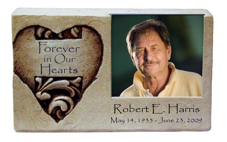 Forever In Our Hearts Photo Keepsake $ 133.00 8.5 W. x 2.375 D. x 5 H., (1 Cubic Inch)